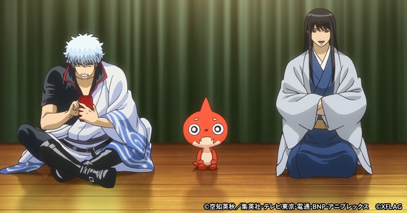 """Gintama X Monster Strike Collaboration Release! Gintoki and Rakugo seem different from usual…?"