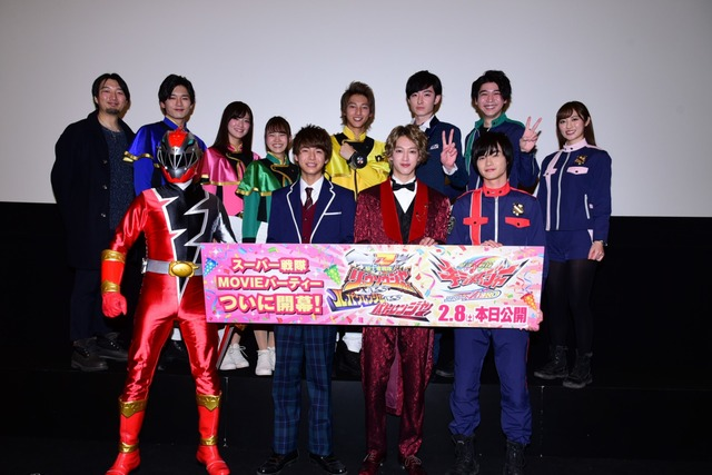 """The cast members talk about the must-see points of """"Super Sentai Movie Party"""". A report of the opening greeting."""