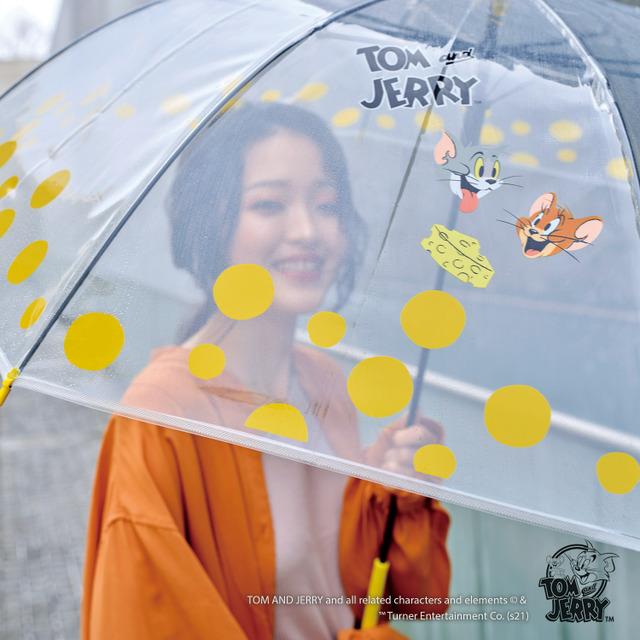 """""""Tom & Jerry"""" Let's enjoyed the rainy day♪ The vinyl umbrella and day parasol with the pop, cheese pattern have been announced"""